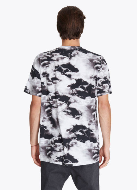 ZANEROBE RUGGER T-SHIRT IN CLOUDS PRINT  - 2