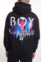 BOY LONDON BOY MELT HOODIE IN BLACK