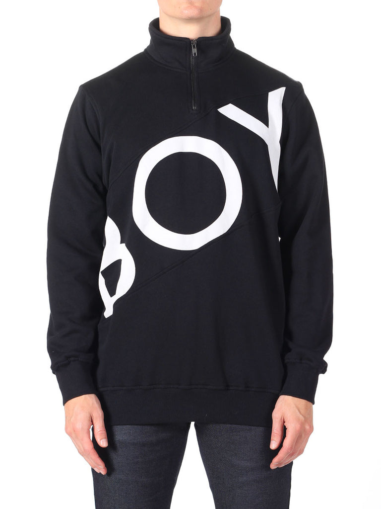 BOY LONDON ZIP TRACK TOP IN BLACK  - 1
