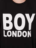BOY LONDON SWEATSHIRT IN BLACK WITH WHITE 'BOY LONDON' LOGO  - 4