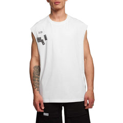BOY LONDON TICKET TANK TOP IN WHITE