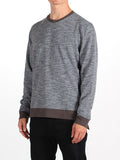 WORKSHOP FRENCH TERRY SWEATSHIRT WITH SIDE ZIPPERS IN HEATHERED GREY