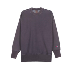 CHAMPION REVERSE WEAVE GARMENT DYED CREW NECK SWEATSHIRT IN REGAL NAVY