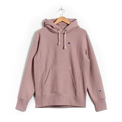 CHAMPION REVERSE WEAVE PULL-OVER HOODIE IN SPICED ALMOND PINK