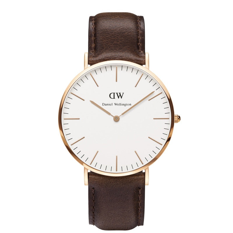 DANIEL WELLINGTON CLASSIC BRISTOL WATCH WITH ROSE GOLD  - 1