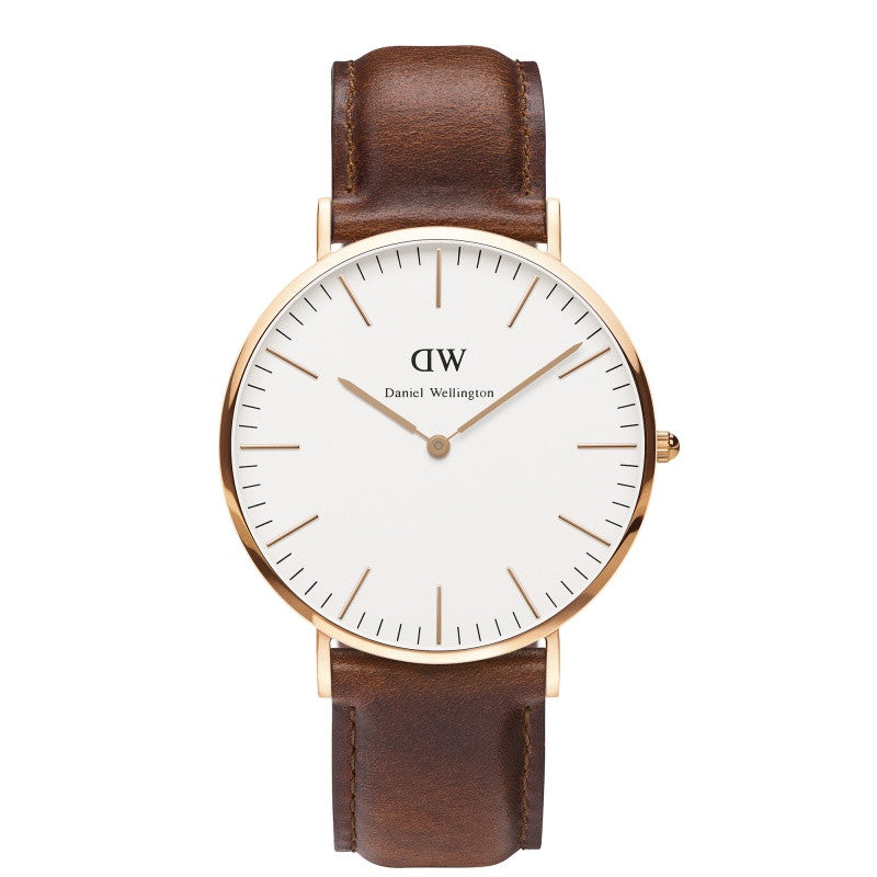 DANIEL WELLINGTON CLASSIC ST MAWES WATCH WITH ROSE GOLD