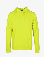 COLORFUL STANDARD CLASSIC ORGANIC HOODIE IN NEON YELLOW