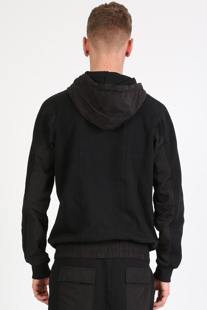 BOY LONDON CYCLE ZIP-UP HOODY IN BLACK  - 2