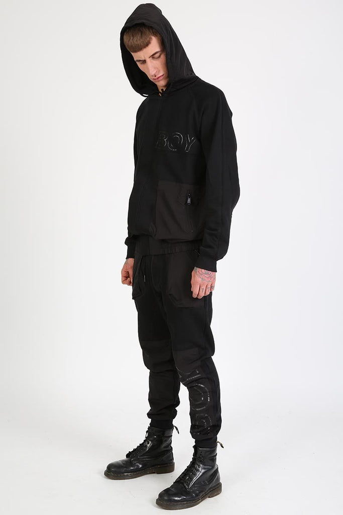 BOY LONDON CYCLE ZIP-UP HOODY IN BLACK  - 3