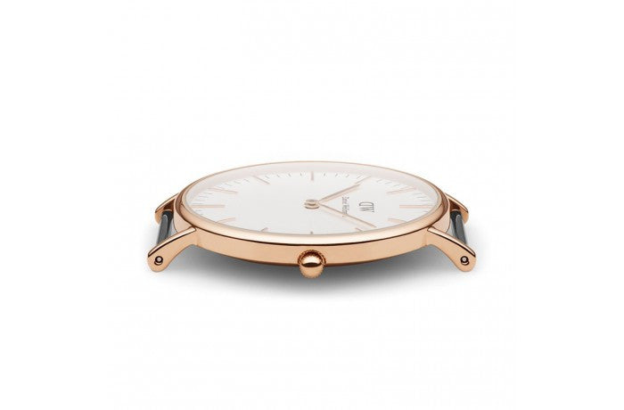 DANIEL WELLINGTON CLASSIC BRISTOL WATCH WITH ROSE GOLD  - 4