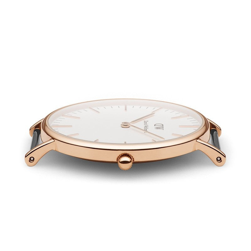 DANIEL WELLINGTON CLASSIC SHEFFIELD WATCH WITH ROSE GOLD  - 4