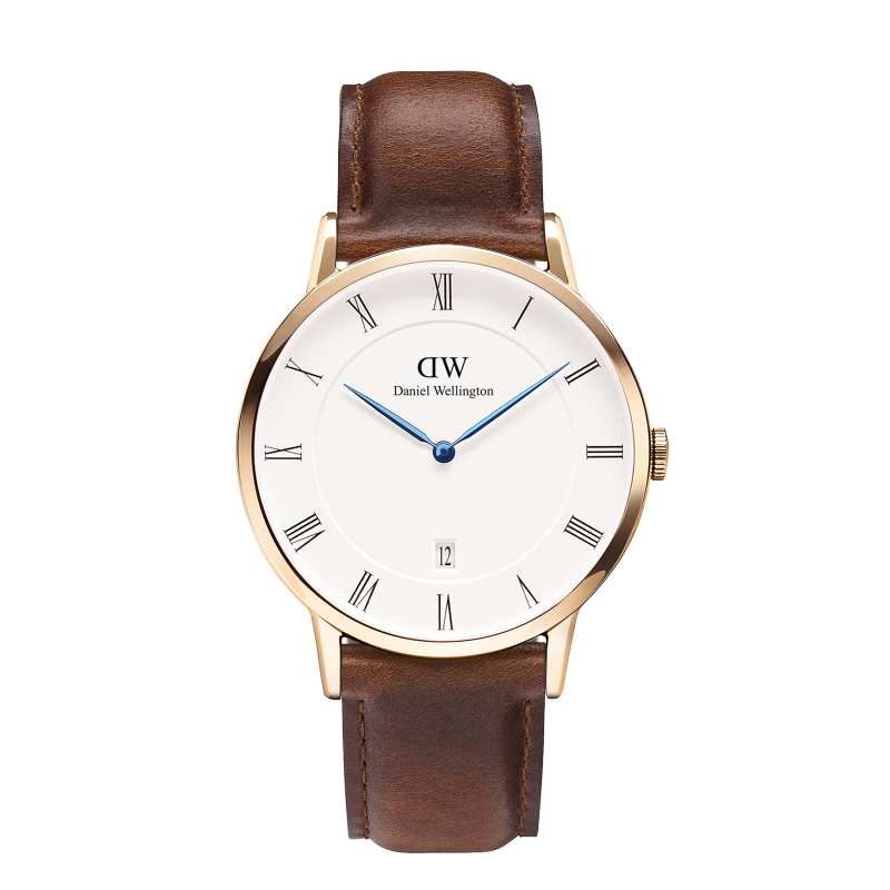DANIEL WELLINGTON DAPPER ST MAWES WATCH WITH ROSE GOLD  - 1