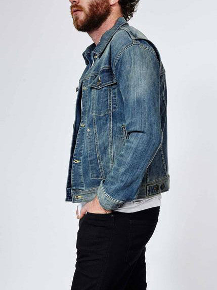 DUER Stay Dry Trucker Jacket in Vintage Wash