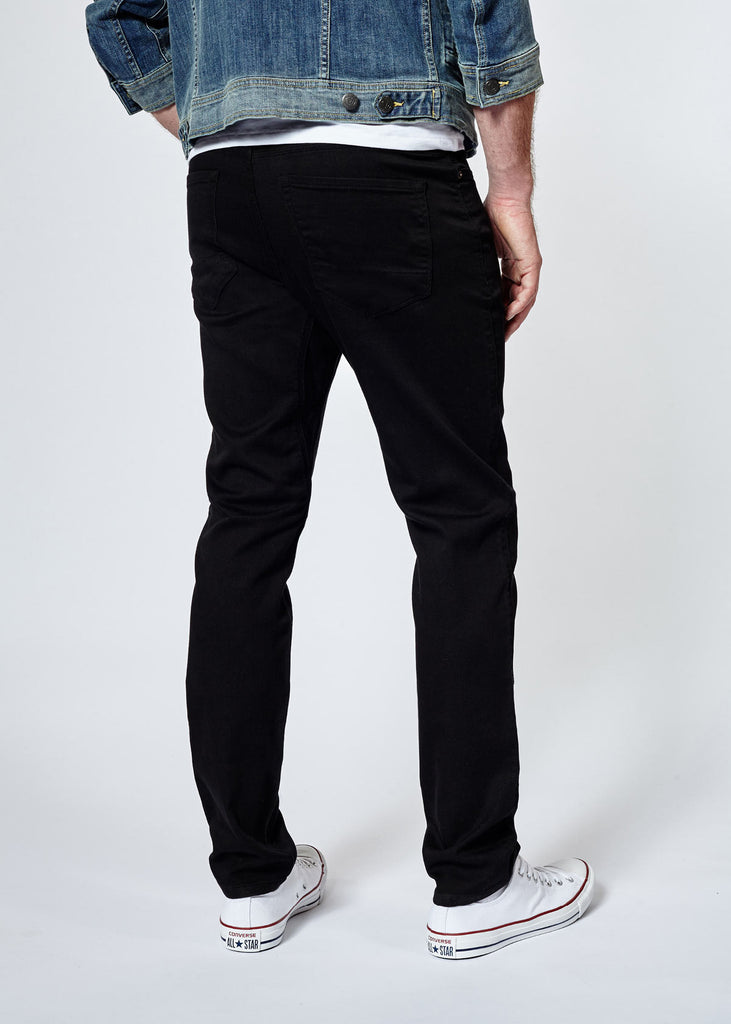 DUER N2X SLIM FIT NO SWEAT PANT IN BLACK  - 1