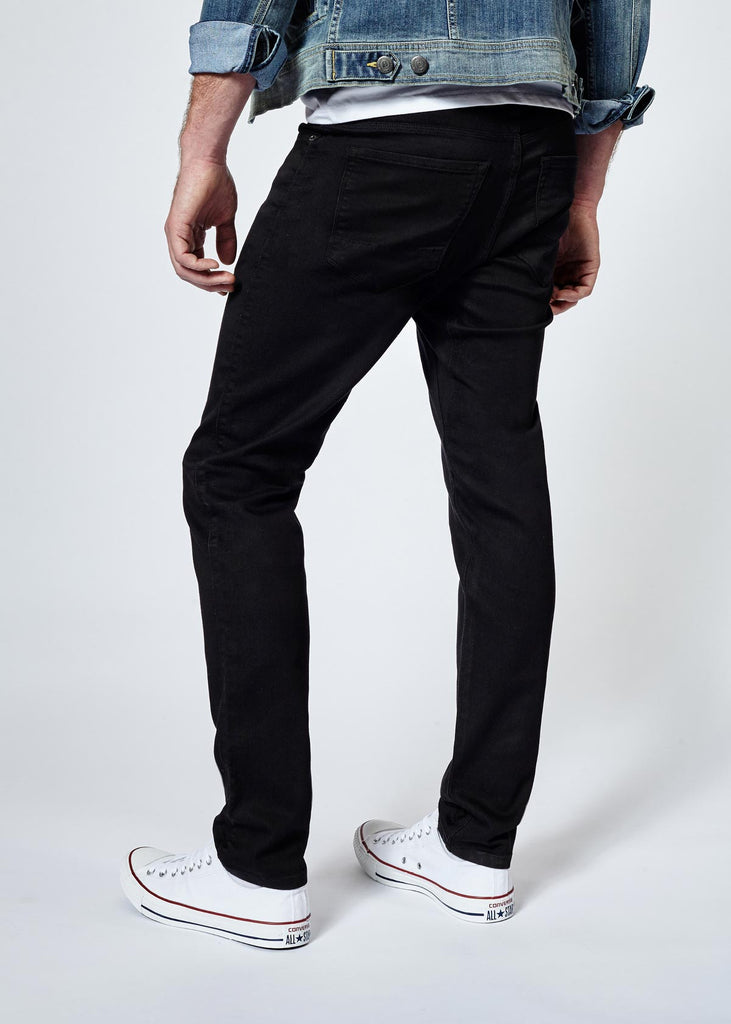 DUER N2X SLIM FIT NO SWEAT PANT IN BLACK  - 3
