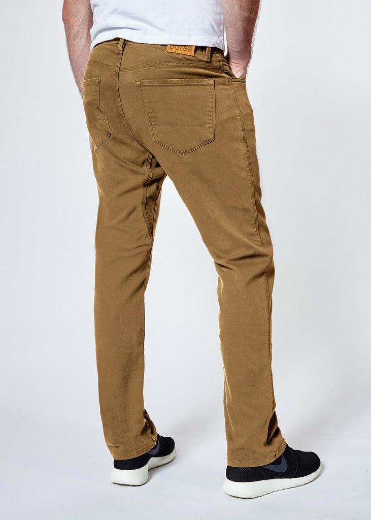 DUER N2X SLIM FIT NO SWEAT PANT IN TOBACCO  - 3