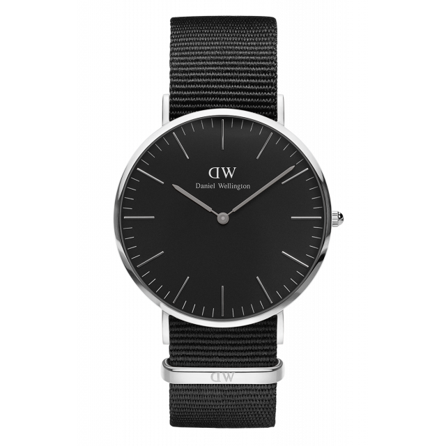 Daniel Wellington Classic Cornwall Watch With Silver Case