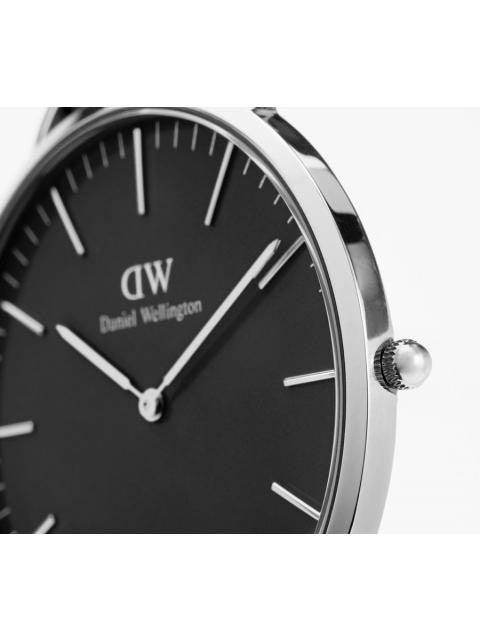 Daniel Wellington Classic Sheffield Watch in Black and Silver