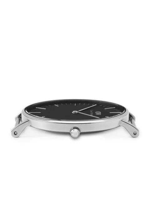 Daniel Wellington Classic Black Sheffield Watch With Silver Case