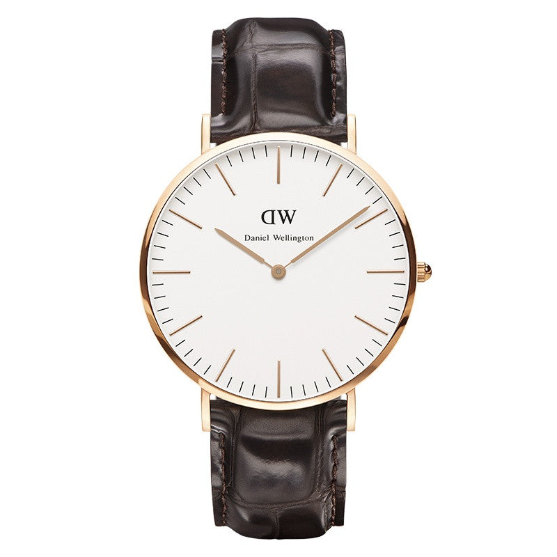 DANIEL WELLINGTON CLASSIC YORK WATCH WITH ROSE GOLD  - 1