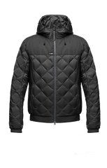 NOBIS ELROY QUILTED HOODED JACKET IN BLACK