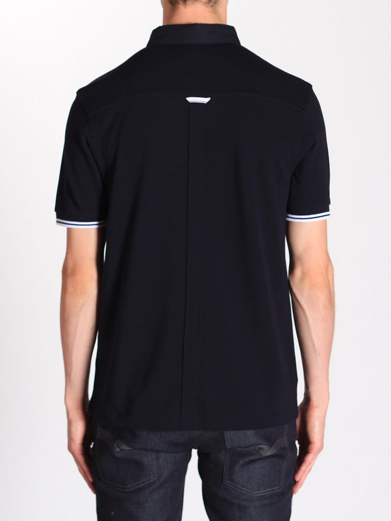 Fred Perry Woven Collar Pique Shirt in Navy  - 2