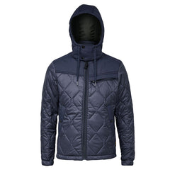G-STAR ATTACC HEATSEAL QUILTED HOODED JACKET IN SARTHO BLUE