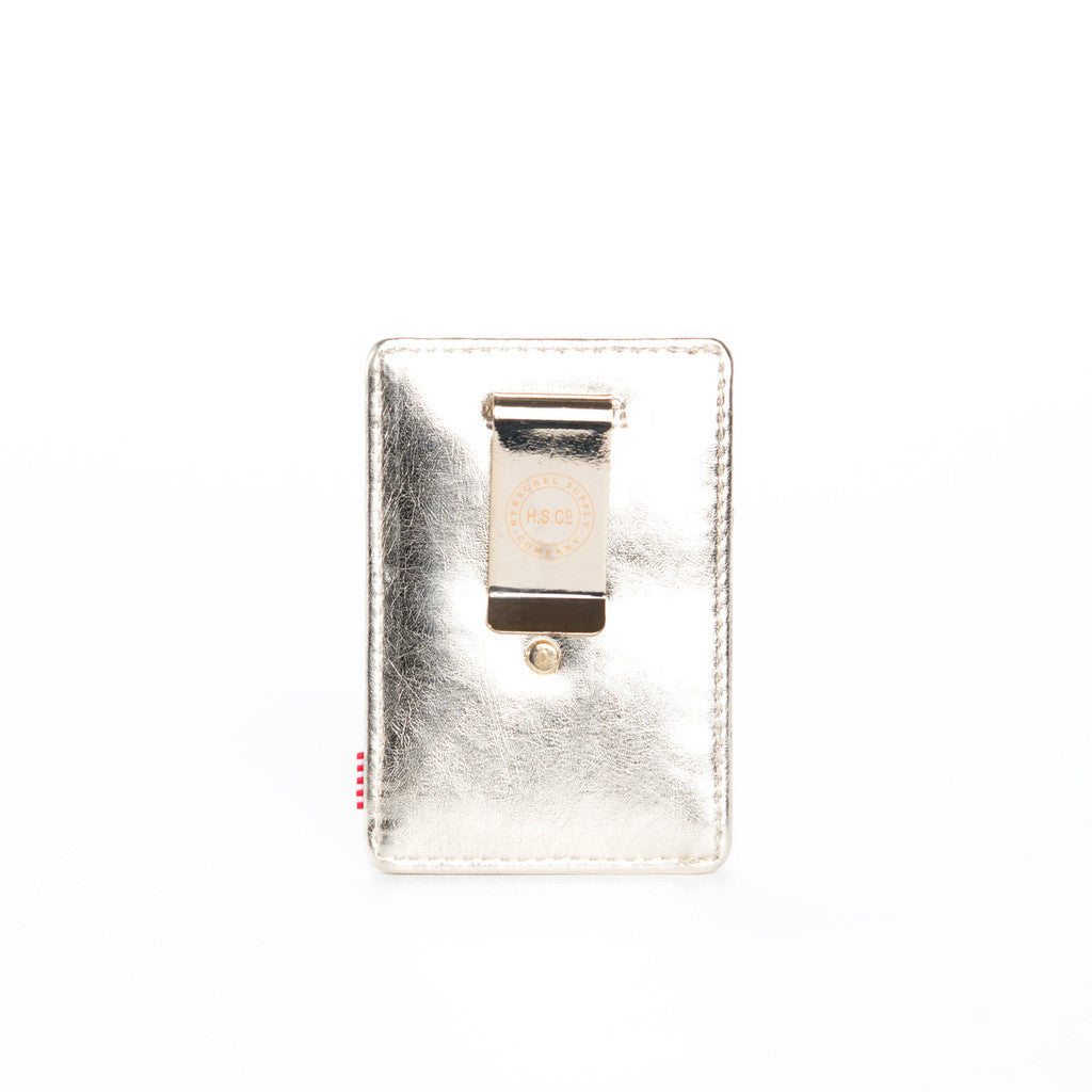 HERSCHEL SUPPLY CO. RAVEN WALLET IN TEXTURED GOLD AND SILVER  - 2