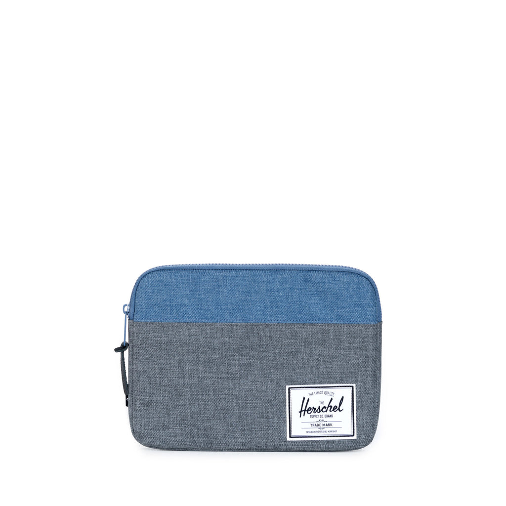 HERSCHEL ANCHOR IPAD/IPAD AIR SLEEVE IN CHARCOAL AND NAVY CROSSHATCH  - 1