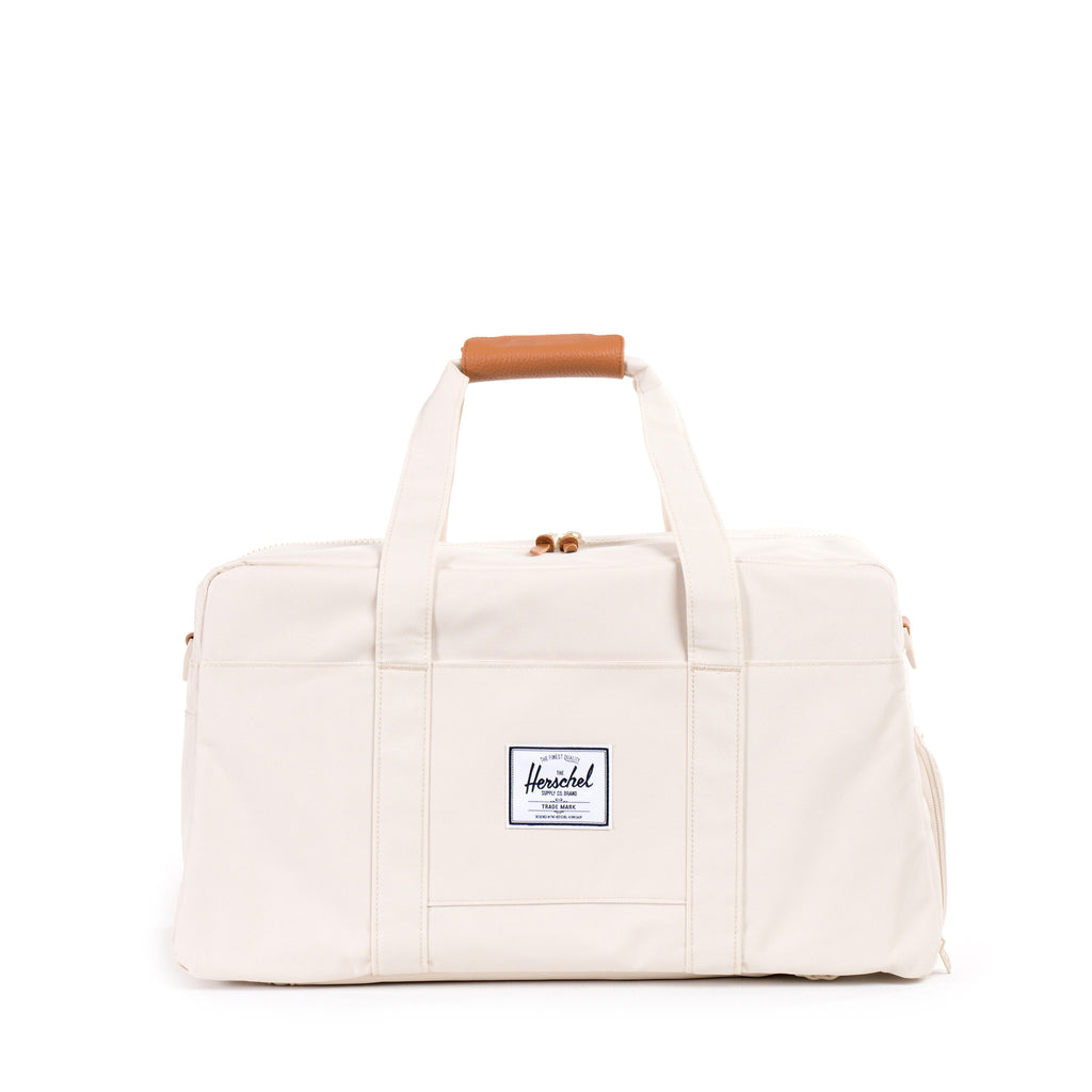 HERSCHEL KEATS DUFFLE BAG IN NATURAL WITH LEATHER DETAILS  - 1