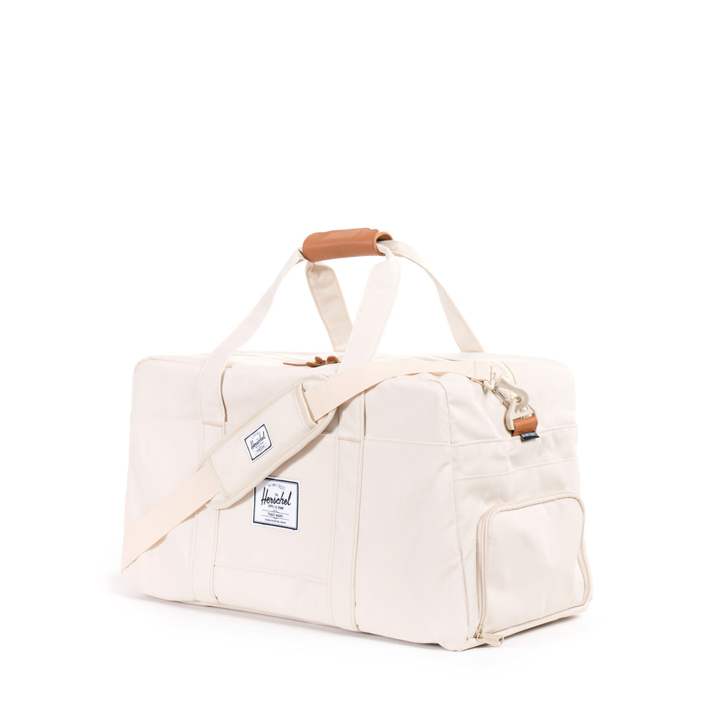 HERSCHEL KEATS DUFFLE BAG IN NATURAL WITH LEATHER DETAILS  - 2