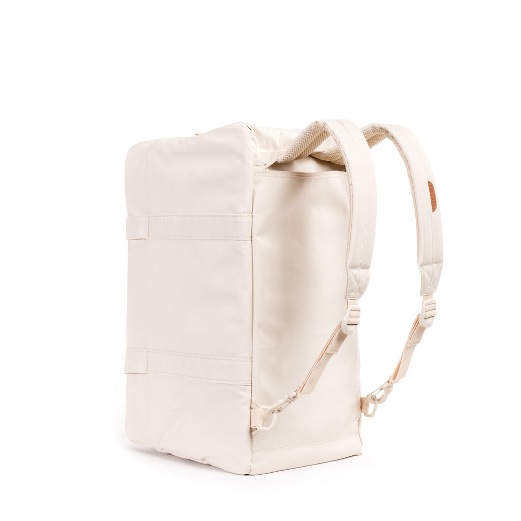 HERSCHEL KEATS DUFFLE BAG IN NATURAL WITH LEATHER DETAILS  - 3