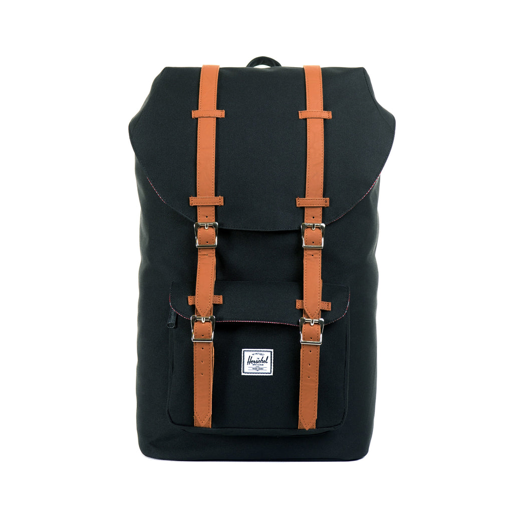 HERSCHEL LITTLE AMERICA BACKPACK IN BLACK  - 1