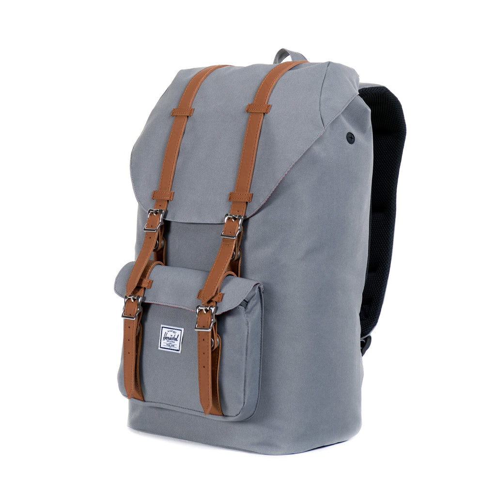 HERSCHEL LITTLE AMERICA BACKPACK IN GREY  - 2
