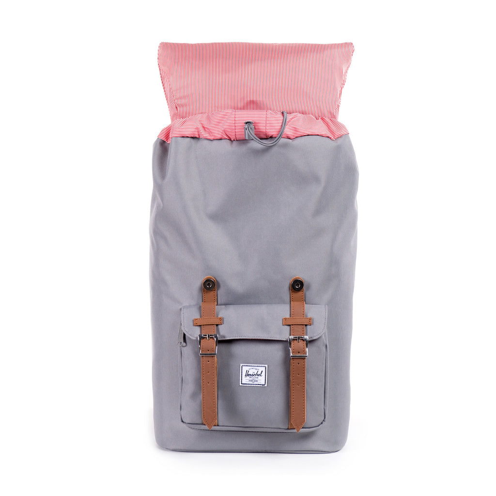 HERSCHEL LITTLE AMERICA BACKPACK IN GREY  - 4