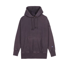 CHAMPION REVERSE WEAVE GARMENT DYED PULL-OVER HOODIE IN REGAL NAVY