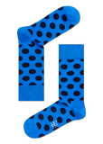 HS BLUE SOCKS WITH BLACK DOTS