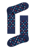 HS BLUE SOCKS WITH MULTI-COLOURED DIAMONDS