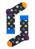 HS CHARCOAL SOCKS WITH OUT OF FOCUS DOTS