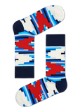 HS MULTI-COLOURED SOCKS WITH STRIPE OFF MOTIF