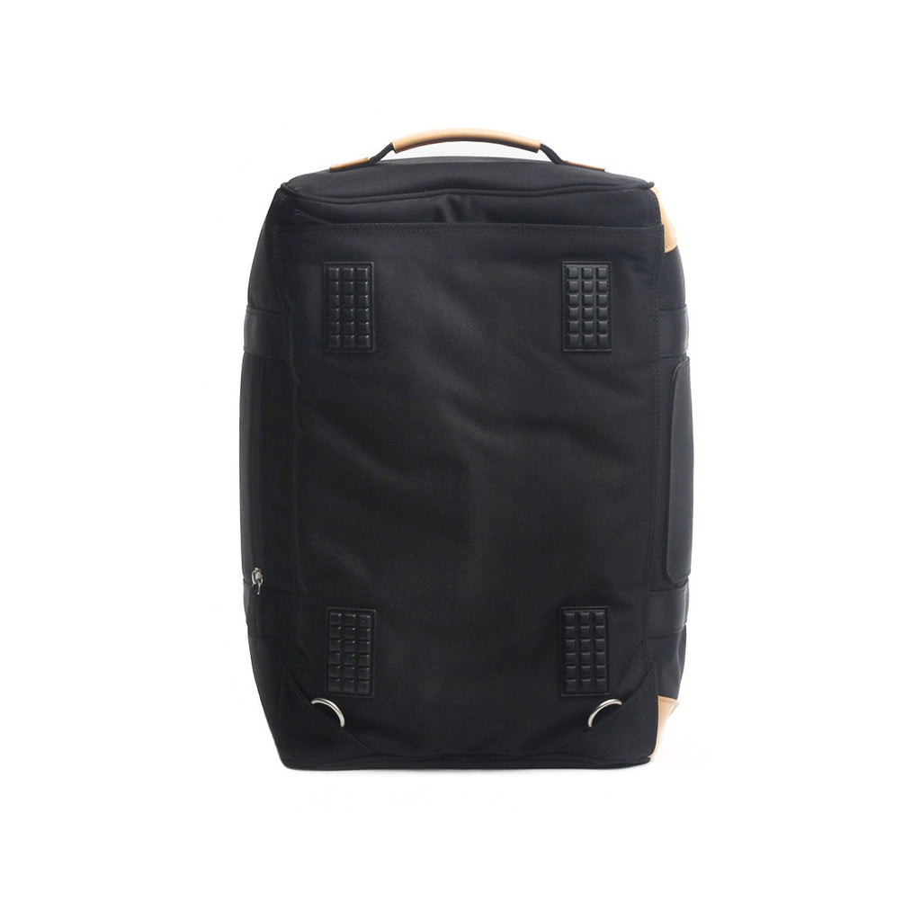 VENQUE DUFFLE 1.0 BAG IN BLACK WITH BROWN LEATHER  - 4