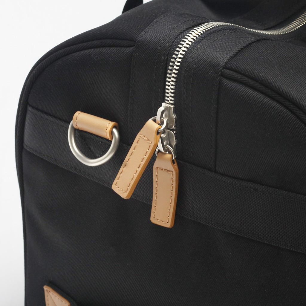 VENQUE DUFFLE 1.0 BAG IN BLACK WITH BROWN LEATHER  - 5