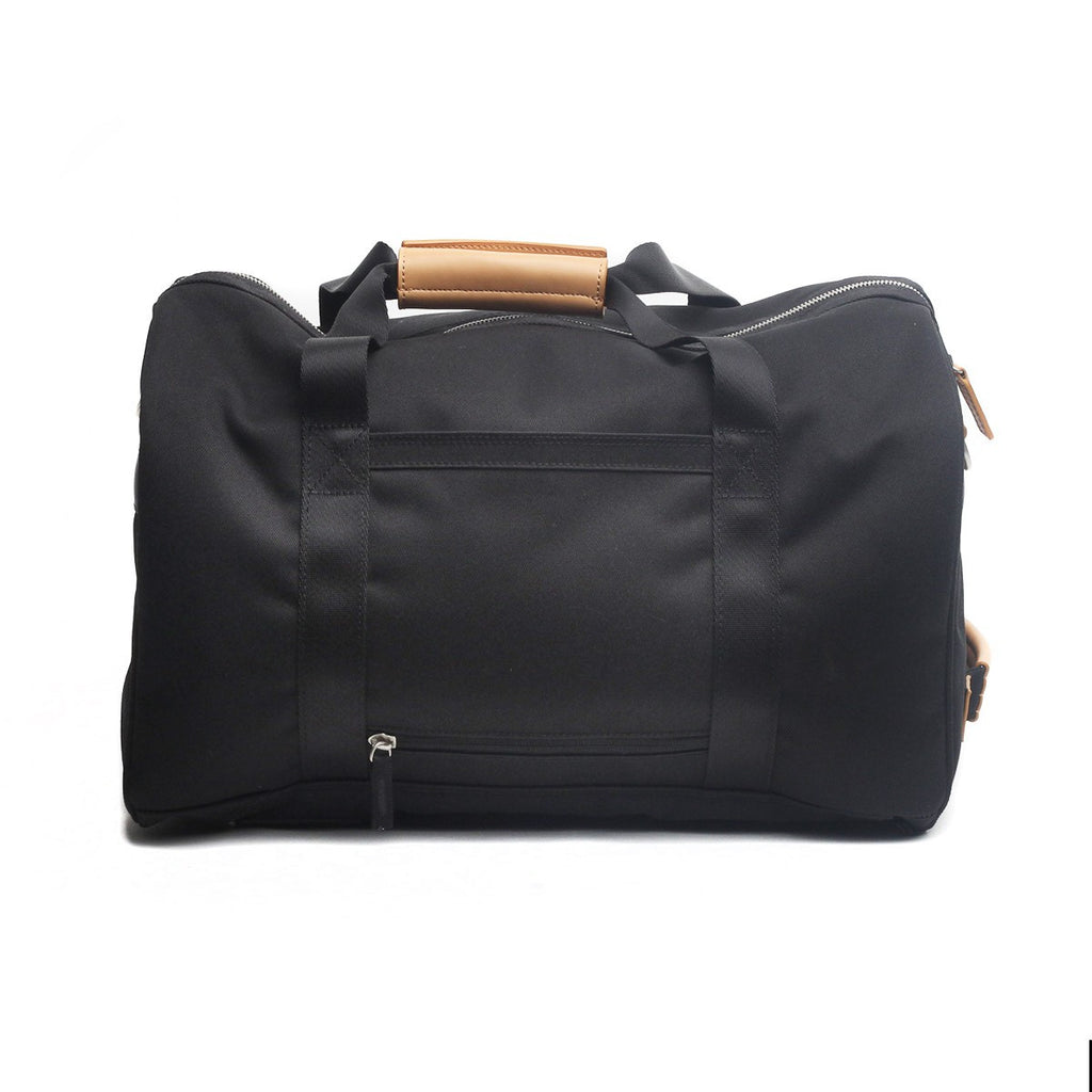 VENQUE DUFFLE 1.0 BAG IN BLACK WITH BROWN LEATHER  - 2