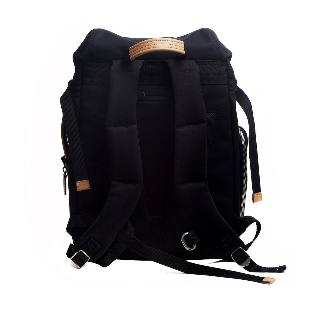 VENQUE ALPINE RUCKSACK IN BLACK WITH BROWN LEATHER  - 4