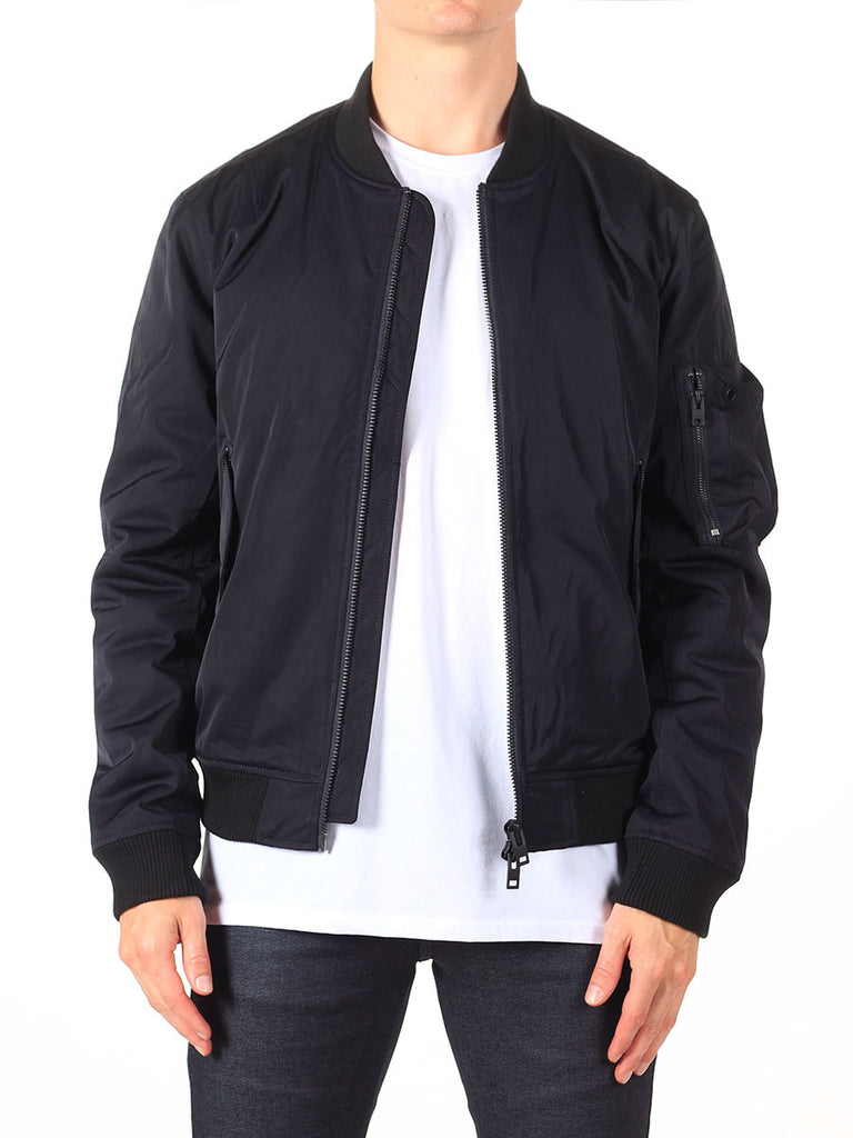 J Lindeberg Rafe 66 Twill Bomber Jacket in Midnight Navy  - 1