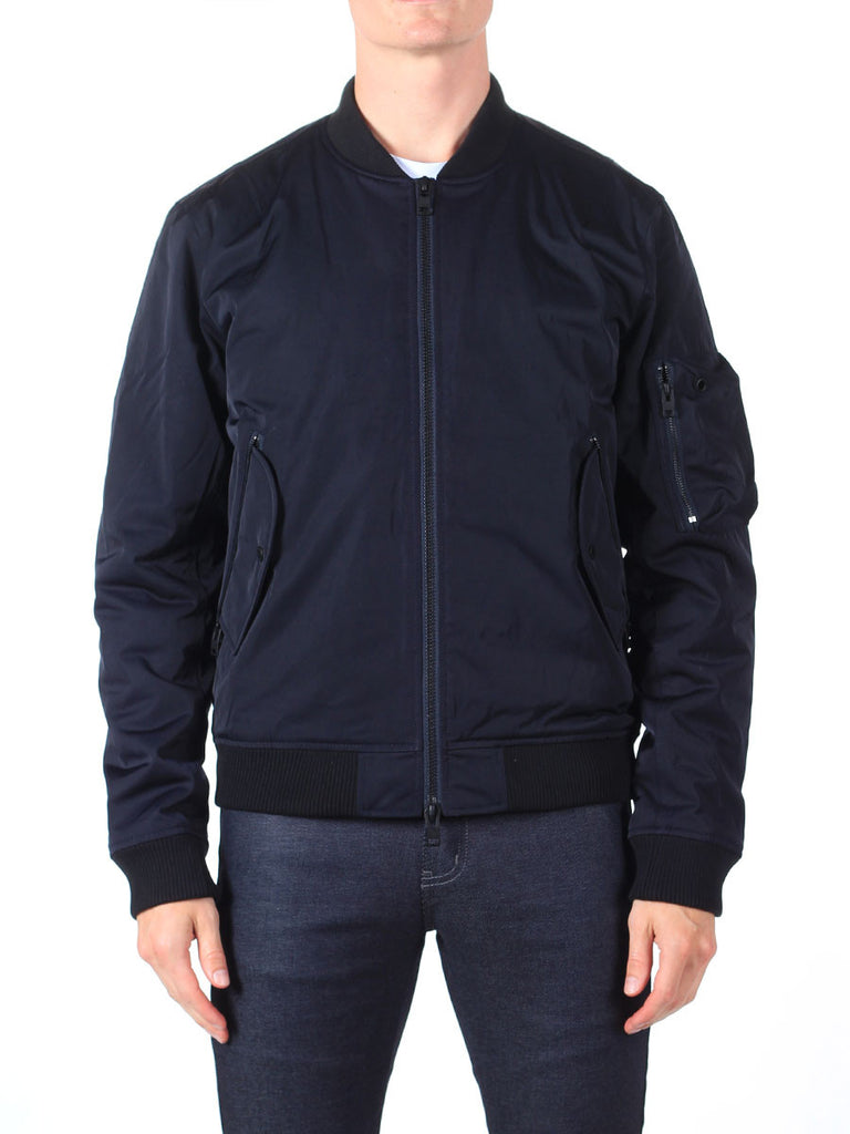 J Lindeberg Rafe 66 Twill Bomber Jacket in Midnight Navy  - 4