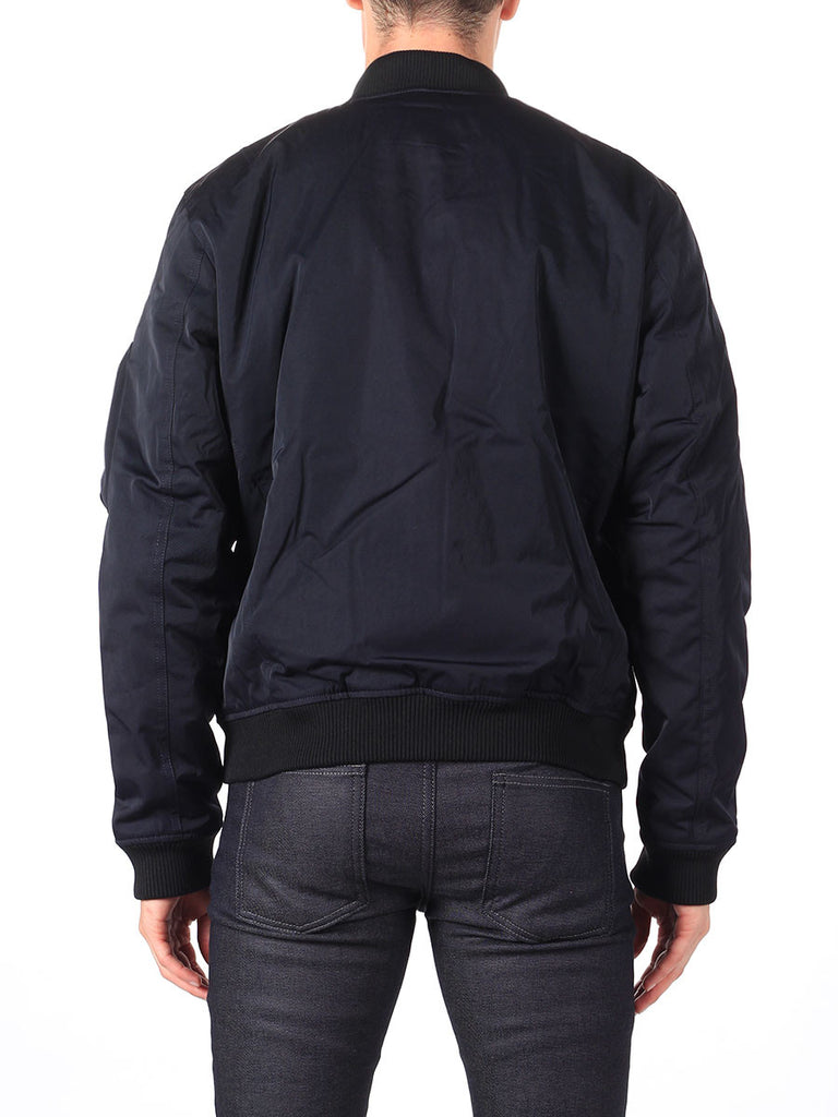 J Lindeberg Rafe 66 Twill Bomber Jacket in Midnight Navy  - 2