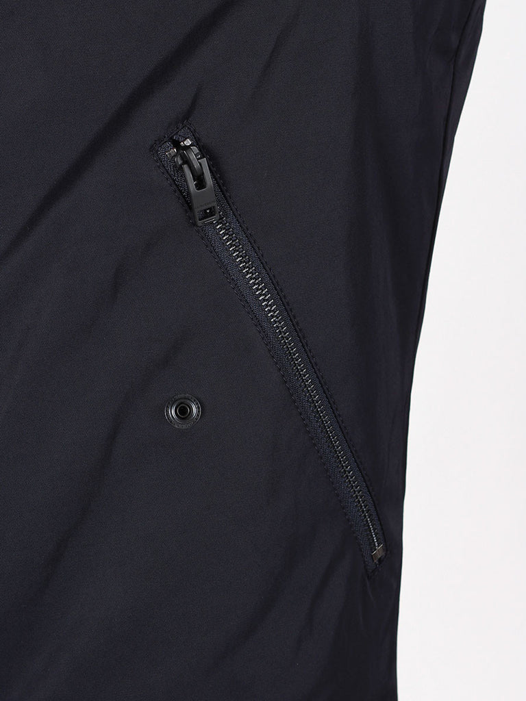 J Lindeberg Rafe 66 Twill Bomber Jacket in Midnight Navy  - 6