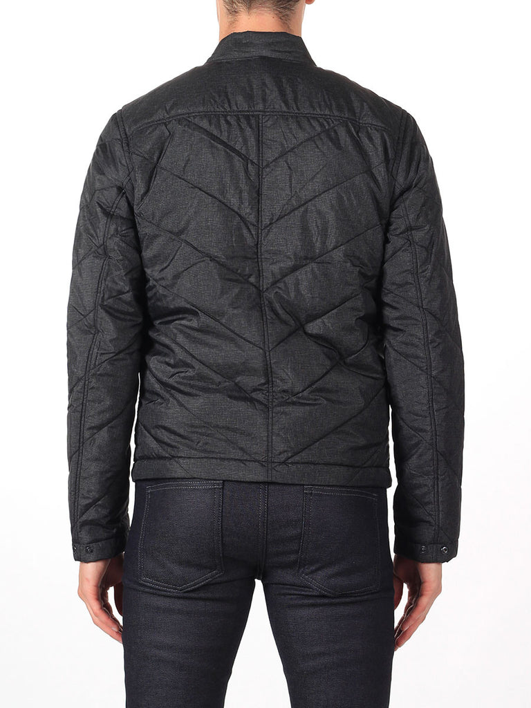 J Lindeberg Travon 66 Print Quilted Jacket in Black Melange  - 2