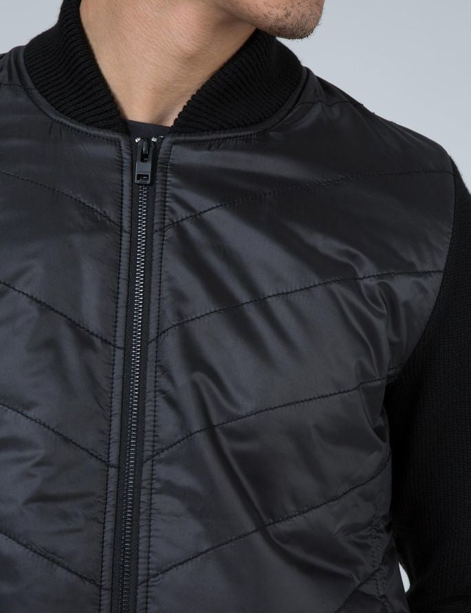 J Lindeberg Wilhelm Nylon Knit Jacket in Black